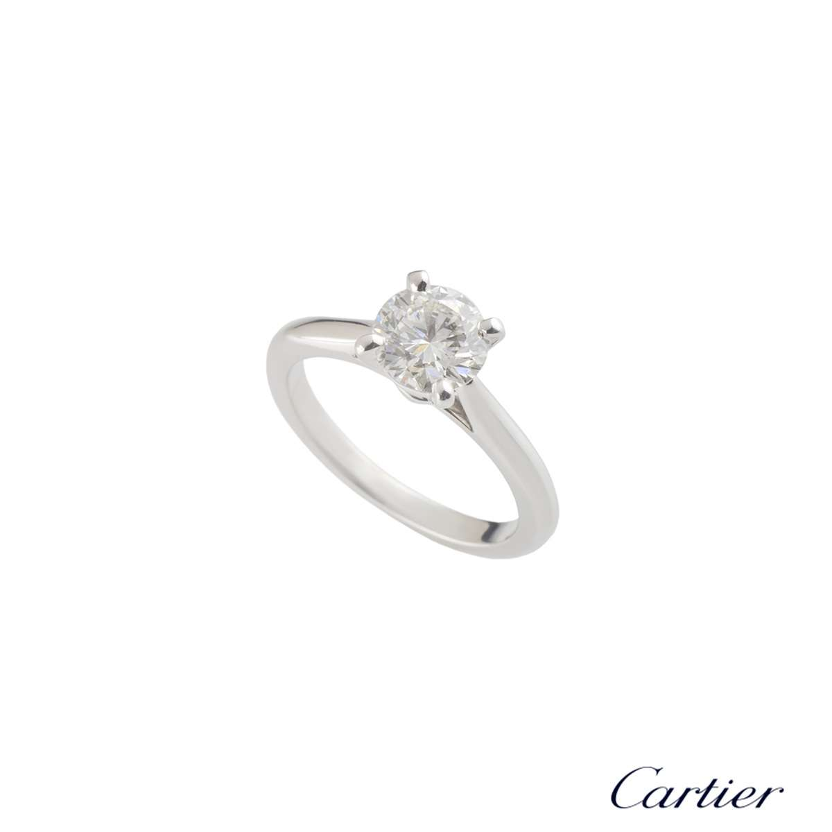 Cartier Platinum Diamond 1895 Solitaire Ring 1.09ct G/VVS2 XXX N4163650